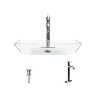 640 Crystal Chrome Bathroom 718 Vessel Faucet Ensemble (bund