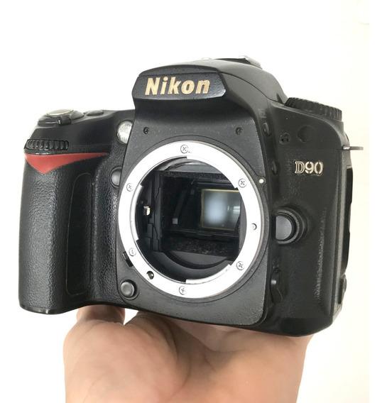 Câmera Nikon D90 Sem Lente + Sd32gb + Carregador + Bateria