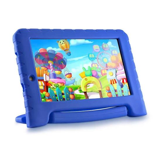 Tablet Azul Infantil Kids Menino Multilaser Quad Core + Capa