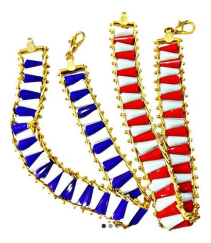 Shango Y Yemaya Pulseras Ides Chapa De Oro Cristales Cónicos