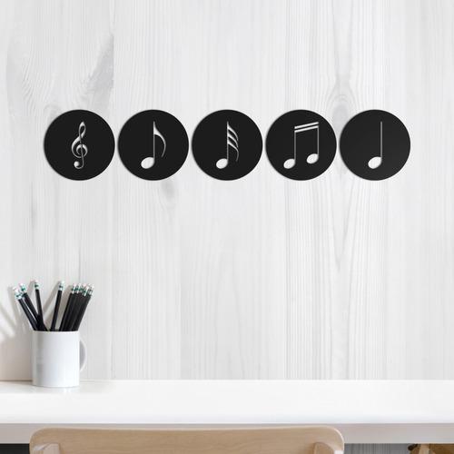 Imagem 1 de 2 de Quadro Decorativo Parede Música Jogo 5 Notas Musicais 50cm