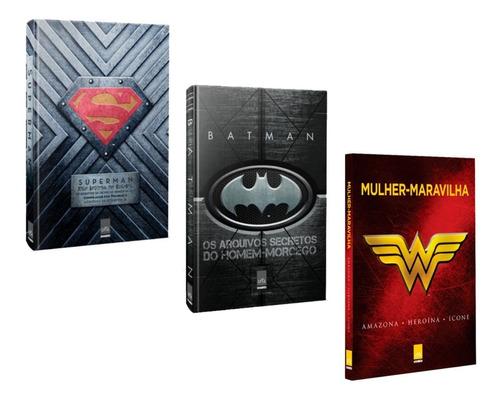 Livros Arquivos Secretos Superman Batman Mulher Maravilha #