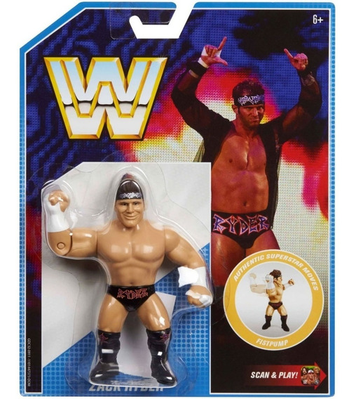 Wwe Retro Zack Ryder Figura Interactiva Scan And Play