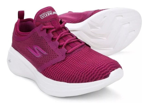 Tênis Skechers Go Run Fast Gtw-15100 Rosa Pink