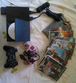 Playstation 02 Com Controle Wifi+memory Card