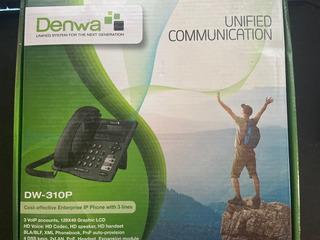 Denwa Teléfono Ip Dw-310p, Alámbrico, 3 Líneas, 4 Teclas Pro