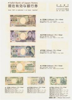 Prospectos Cédulas E Moedas Válidas Do Banco Do Japão