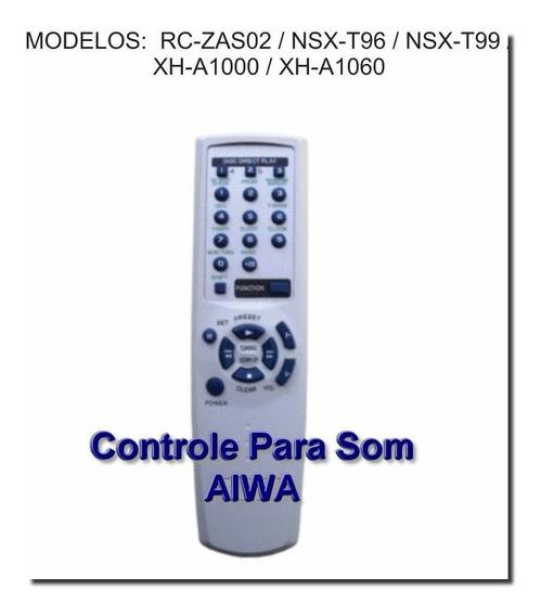 Controle Remoto Aparelho De Som Aiwa Rc-zas02 Nsx-t96 T99