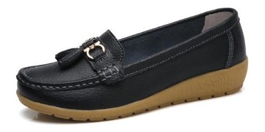 Sapatilha Sapato Feminino Superstar Couro Preto