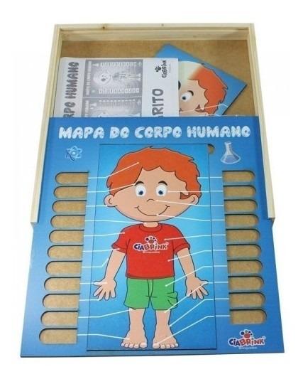 Brinquedo Educativo Mapa Do Corpo Humano 66 Peças Ciabrink