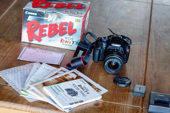 Canon T3 A Mais Nova 8mil Clicks Completa Envio Imediato