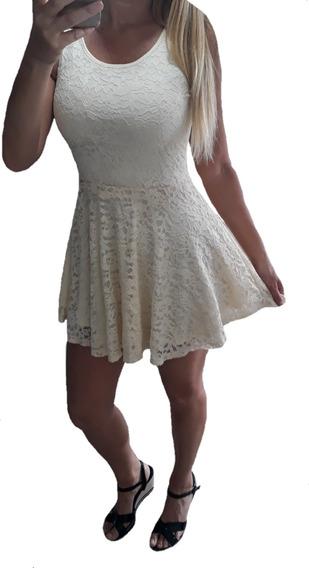 Vestido De Encaje Importado - Fiesta - Civil -casamiento