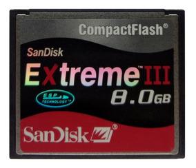 Cartão Compact Flash Sandisk 8gb 30mb/s Nikon Canon 7d 5d