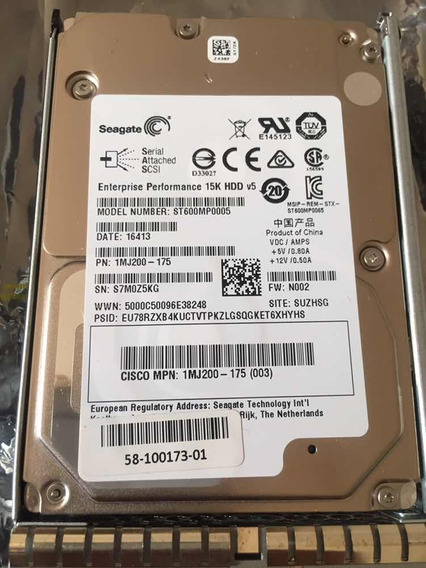 Hd Servidor 600gb Seagate Sas St600mp0005 2.5 15k Hdd Ucs