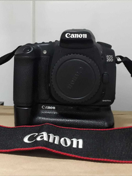 Câmera Canon 20d Corpo, C/ Battery Grip