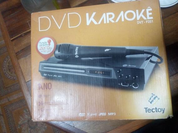 Aparelho Dvd Karaoke Tectoy Com Microfone Precisa Revisar
