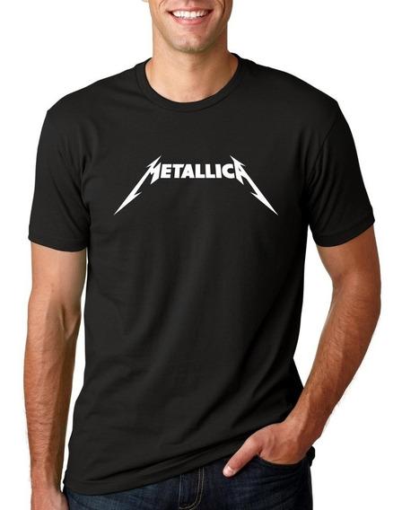 Camiseta Masculina Metallica Logo Moderna Estilosa