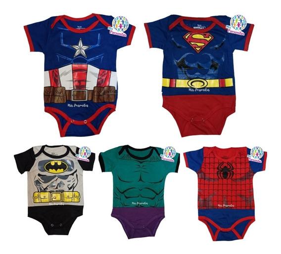 Bodys De Bebe Super Héroes Capitán América Superman Algodon