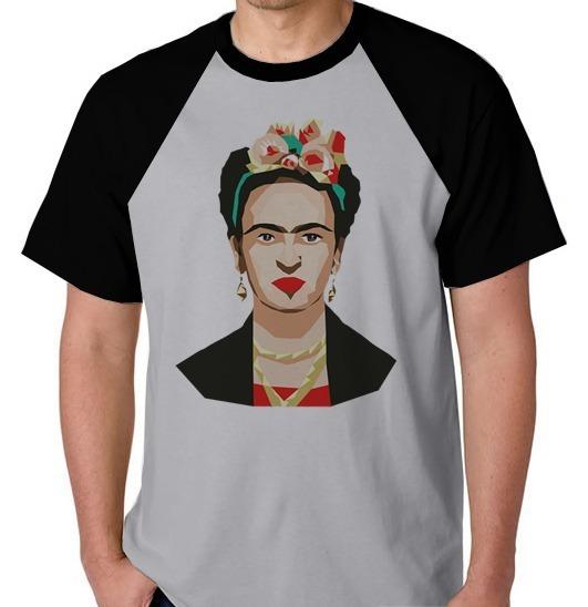 Camiseta Raglan Camisa Blusa Feminina Masculina Frida Kahlo
