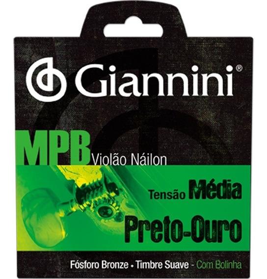 Encordoamento Para Violão Nylon Mpb Ouro Genwbg Giannini