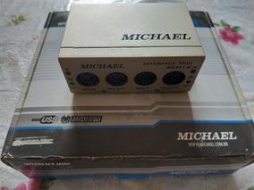 Interface De Áudio 2 Canais Midi Usb Michael Akm14