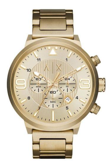 Relógio Armani Exchange Masculino Dourado Ax1368/4dn