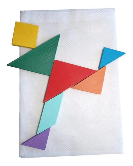 Juego Didáctico Tangram En Saco De Tela