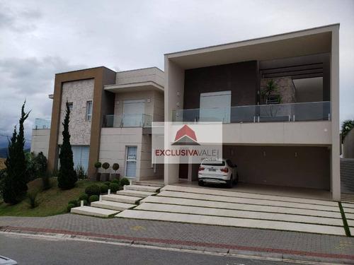 Casa Com 4 Dormitórios À Venda, 563 M² Por R$ 2.600.000,00 - Condomínio Residencial Jaguary - São José Dos Campos/sp - Ca0880