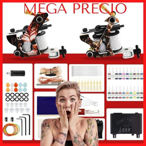 Imagen 1 de 9 de Kit Tatuar Tatuaje Rotativa 2 Maquinas Master Liquidación