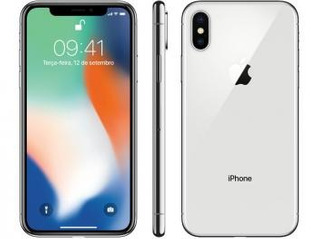 iPhone X Apple 64gb Prata 4g Tela 5,8 Retina - Câmera 12mp
