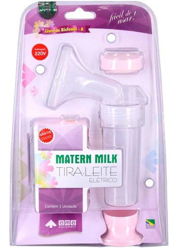 Bomba Tira Leite Elétrica 220 V - Rosa - Matern Milk