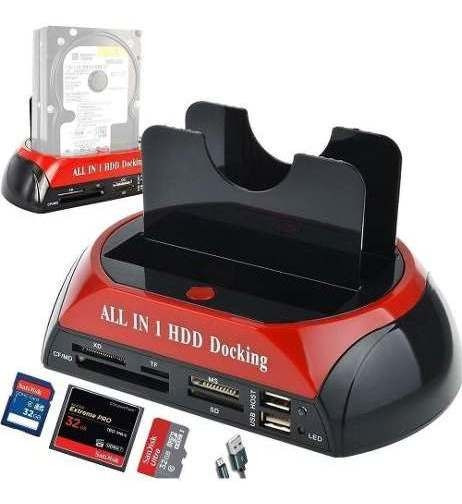 Case Hd All In 1 Hdd Docking Usb 2,0 Sata Backup Pc Notebook