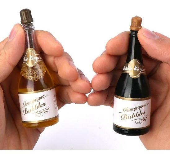 Recuerdos Boda Burbujas Para Fiesta Botella Champagne 12 Pz