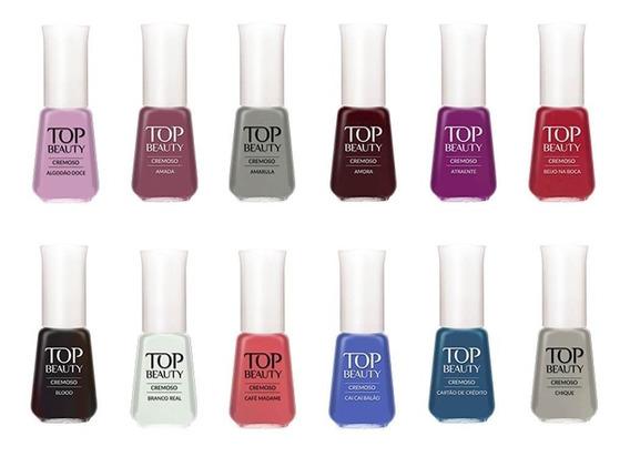 Kit Esmalte Top Beauty - 10 Unidades Cores Sortidas Atacado