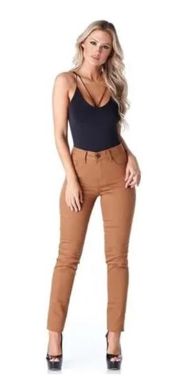Calça Jeans Modela Bumbum Caramelo Com Lycra Hno Tam 42