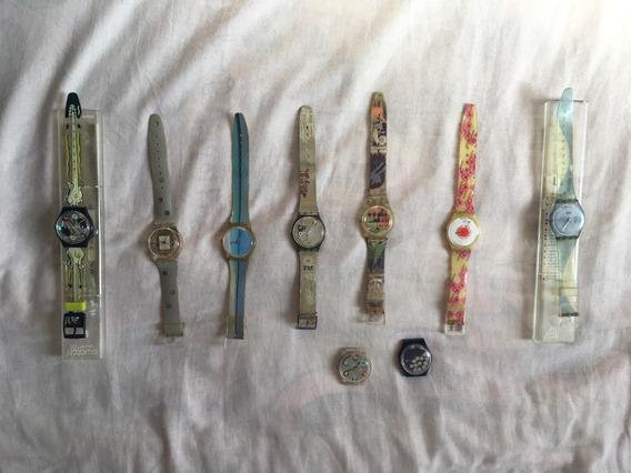 Kit Com 9 Relogios Classicos Swatch Anos 90