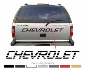 Adesivo Tampa Traseira Chevrolet Blazer S10 Fba016
