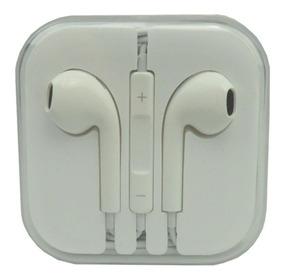 Fone De Ouvido Celular Branco Com Botão Volume