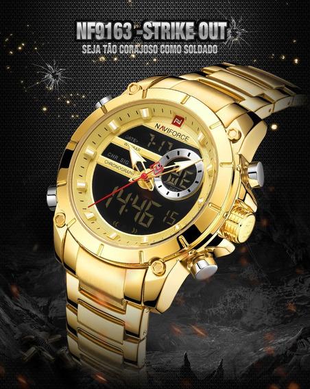 Relógio Masculino Naviforce 9144 Aço Inox Original