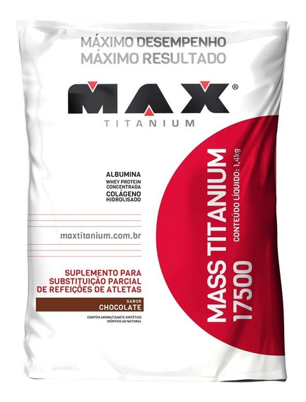 Massa Titanium 17500 - 1,400kg - Max Titanium Todos Os Sabor