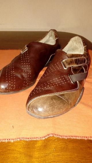 Zapatillas Dama De Cuero