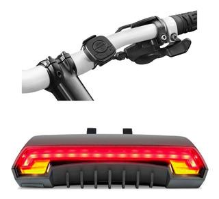 Lanterna Traseira C/ Seta Led C/ Controle Sem Fio Para Bike