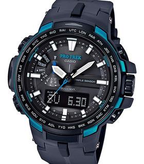 Reloj Casio Prw-6100y Protrek Brujula Altimetro Graficos Watch Fan Locales Palermo Y Saavedra