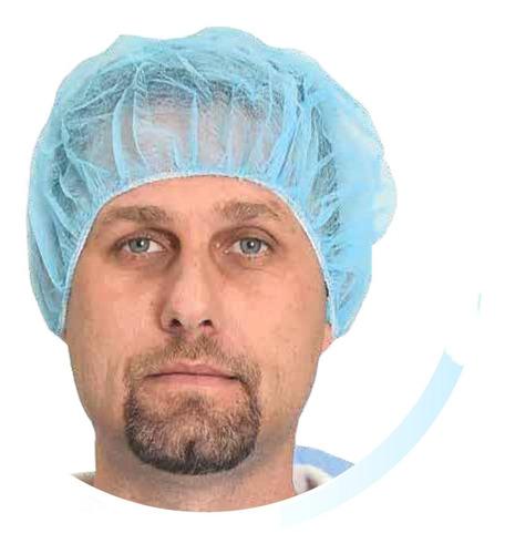 Imagen 1 de 2 de Gorra Quirúrgica Cofia Descartable X 100 Blancas O Celestes