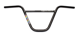 Manubrio Eighties Rainbow Full Cromo Negro 9 Linea Pro Bmx