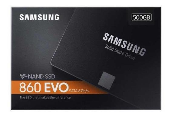 Ssd Samsung 860 Evo 500gb Sat3 6gbs 2,5 550mb/s 12x Gar 5ano