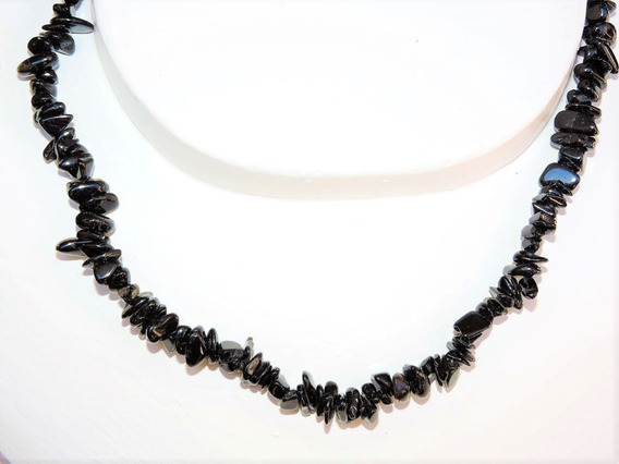 Collar Piedra : Original Natural Turmalina Negra