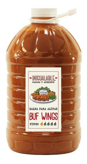 Inigualable Salsa Alitas Buf Wings 1 Garrafa 3.78 L Red Hot