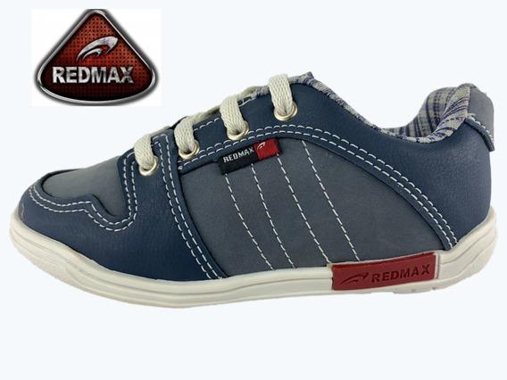 Sapatênis Casual Redmax Masculino Infantil - Azul/cinza Lindo, Super Resistente E Confortável! De R$79,90 Por R$59.90!