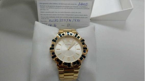 Relógio Euro 250 Dourado Masculino/feminino